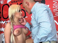 Teen girl Bibi Noel givign a blowjob to her teacher