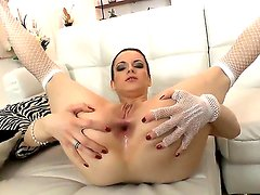 Horny and experienced lady Lizaveta K. spreads her hot asshole in front of Omar