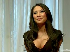 Sexy Asa Akira gets tied up and double penetrated