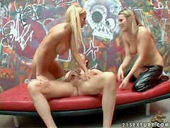 Turned on long haired blonde goddess Harmony Rose with big