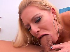 Mick Blue gets a fantastical, deep and passionate blowjob by super hot buxom slut