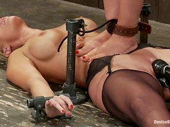 Isis Love and Mellanie Monroe get chained and tortured and adore it