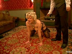 Fucking Dominated and Tied Up Babe Devon Taylor for Facial