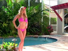 Beautiful Blonde Anita Dark Touching Herself in the Pool