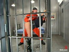 Beautiful prison guard gets banged by the most dangerous criminal