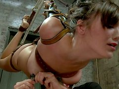 Throat Fucking Bounded Slut Holly Michaels in Wild BDSM Video