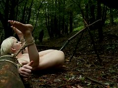 The guards of forest catch and rape this blond princess