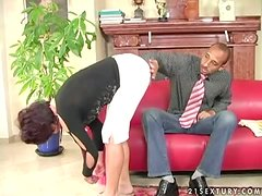 Katala sucks a BBC and gets her vag fisted and pounded