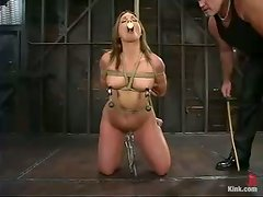 Flower Tucci gets tied up and mouth-fucked from behind