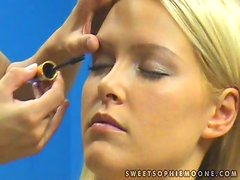 Sophie Moone gets ready for her lesbian scene with Zafira