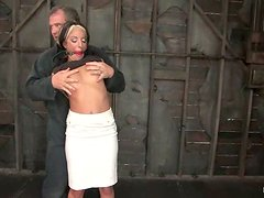 Sex Toys and Gag Ball Plays in Bondage Video with Gina Caruso