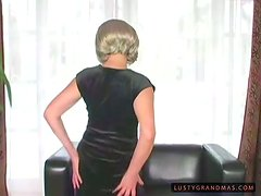 Blonde granny Terezka gets her cunt whipped, fisted and brutally fucked