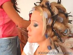 Tereza and Zoe please Sophie Moone with hot fingering