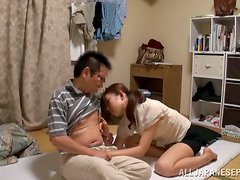 Homemade Asian couple humping fast and hard