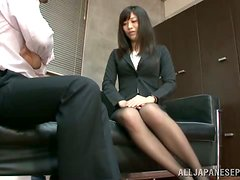 The sweet office babe fucks her boss for a new role