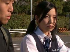 Airi Minami gets her pussy fingered and fucked in a bus