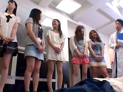 Japanese girl lifts her skirt up and gets fucked from behind