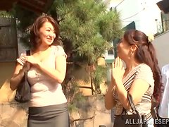 A big boobed Asian wife rides her fuck buddy