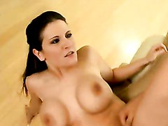 Big boobed Austin Kincaid gets her pussy hammered hard and takes creamy cum