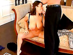 Scorching Sienna West hooks her mouth on a massive errect cock and loves it