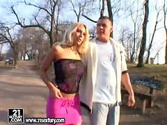 Adriana Russo takes him to her place and rides his dick