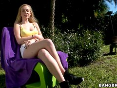 Stacie Jaxxx jumps on a cock after sucking it remarcably well