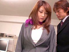 Office Girl in pants gets fucked hard by her colleague