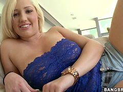 Busty blonde Dayna Vendetta enjoys a raunchy moment indoors