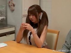 A sweet Japanese teen has fun with her boyfriend