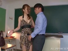 The new teacher gets a very kinky welcome in class