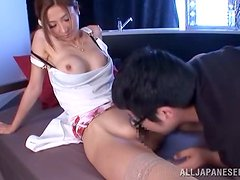 Akari Asahina jumps on a cock and moans sweetly in pleasure