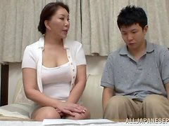 Japanese mature lady Wako Anto wanted some fresh meat
