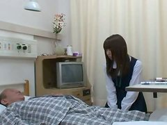 Japanese teen gets fucked by old man in a hospital