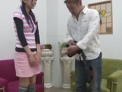 Sporty Japanese girl sucks a cock and gets pounded