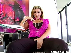 Mature blonde Sara Jay gets her coochie pounded deep and hard