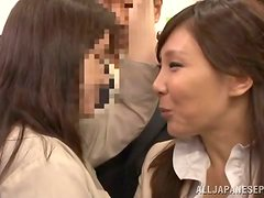 Drunk Japanese babe gets fucked and fingered by four guys