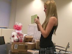 Beautiful Sophie Moone Gets Many Presents from Her Fans