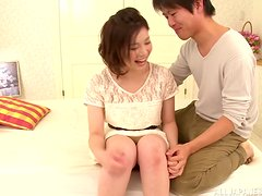 An Asian teen acts all shy and innocent on her dates...