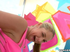 Sarah Vandella rides a dick and licks it every time it is not in her snatch