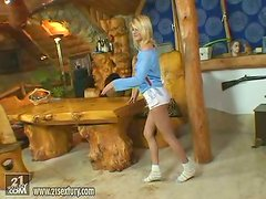 Natural Blonde Beauty Jasmine Rouge Puts a Dildo in Her Sweet Snatch