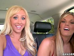 Anal Loving Blondes Jessica Lynn and Mackenzee Pierce Share Dick in FFM