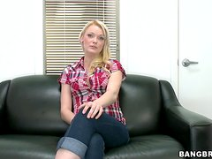 Zoey Paige the sexy blonde newcomer gets pounded