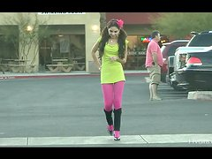 Trinity walks down the street and tells about herself.