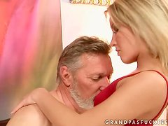Blondie Gets Fucked By Old Bastard