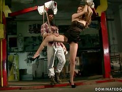 Lovely strawberry blonde gets fisted and vibrated
