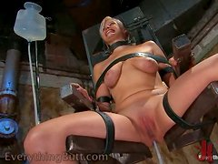 Horny Blonde Chained To The Chair