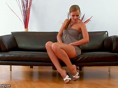Jo gets naughty with herself all alone at home