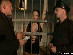 Liz Has Been Bold So The Prison Guard Dominates Her