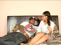 Lustful Latina Vanessa Cruz Drilled by a Big Black Monster Cock