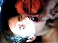 Nikita recieves a warm load of cum in her mouth outdoor